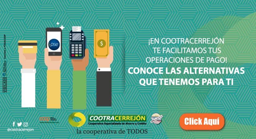 Modalidades de pago Cootracerrejón